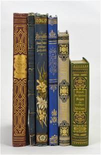 Six Antique Fine Binding German Language Books 19thC