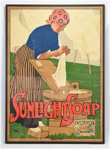 Metlikovitz, Leopoldo SUNLIGHT SOAP POSTER 1900 Milan