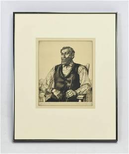 Morgan, William E.C., ANTONIO Etching 1927