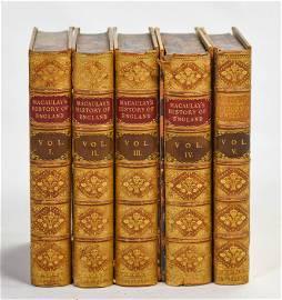 Macaulay HISTORY OF ENGLAND London ca.1858 5 Volumes