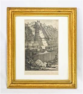 """Piranesi """"Antichita Romana"""" Etching 1756"""