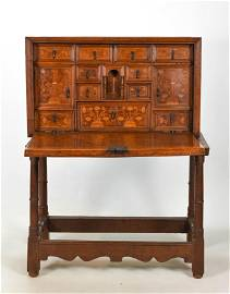 Antique Vargueno Cabinet on Stand 18th-19thC