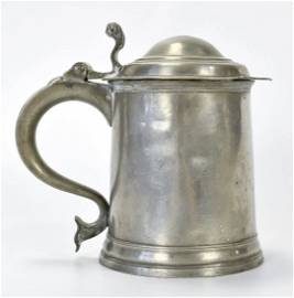 Antique William Kirby Domed Lid Pewter Tankard