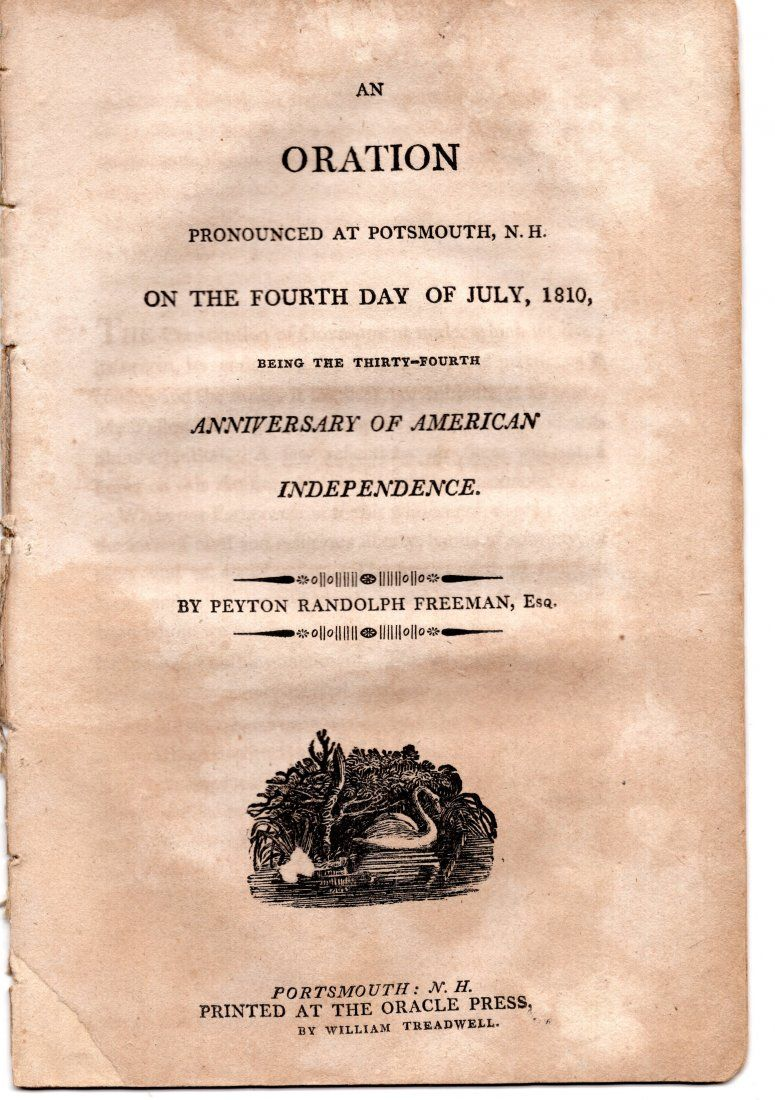 Fourth of July oration, 1810