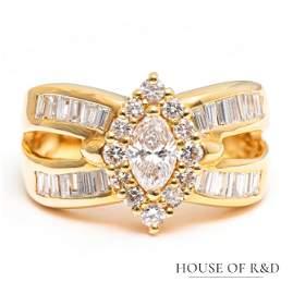 18k Yellow Gold - 1.39tcw -  Diamonds Ring