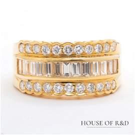 18k Yellow Gold - 1.40tcw -  Diamonds Ring