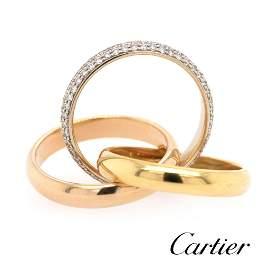 Cartier - 18k Rose&Yellow Gold - Trinity with Diamonds