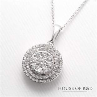 14k White Gold - 0.47tcw - Diamonds Necklace