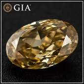 1.81ct - Natural Fancy Deep Brownish Yellow/SI2 - Oval