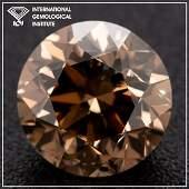 3.01ct - Natural Fancy Deep-Orange Brown/SI2 - Round