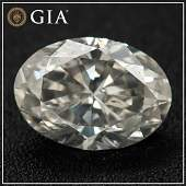 1.20ct - Natural Fancy Light Gray - SI2 - Oval