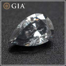 1.18ct -Natural Fancy Blue Gray - Pear