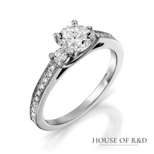 14k White Gold - 0.78tcw - Diamonds Ring