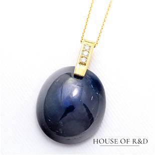18k Yellow Gold - 36.01tcw - Sapphire & Diamonds