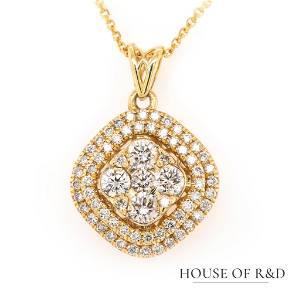 14k Yellow Gold - 0.74tcw -  Diamonds Necklace