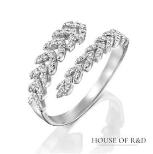 14k White Gold - 0.38tcw - Diamonds Ring
