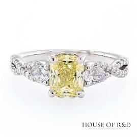 14k White Gold - 1.70tcw -  Diamonds Ring