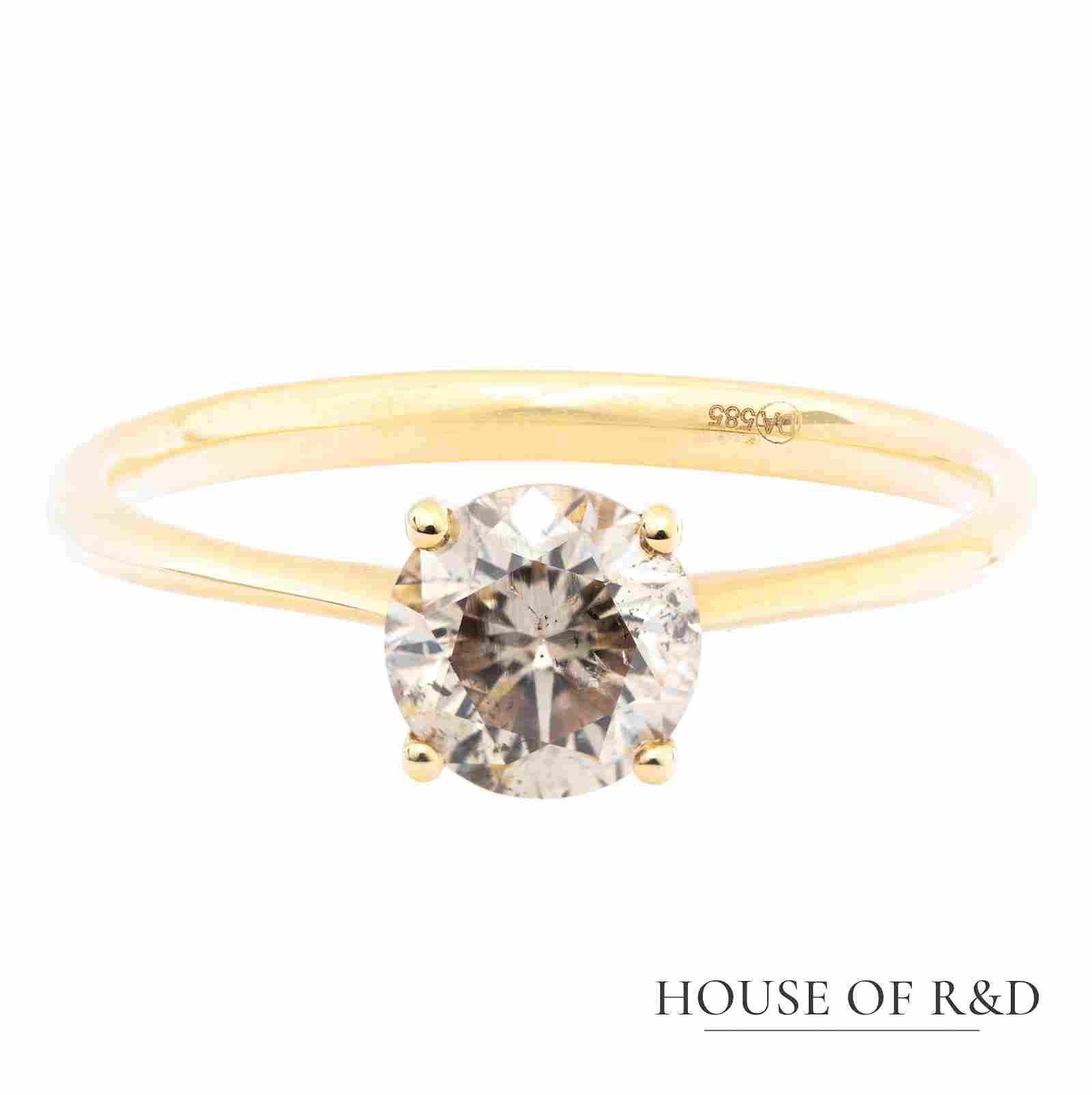 14k Yellow Gold - 0.82tcw -  Diamonds Ring