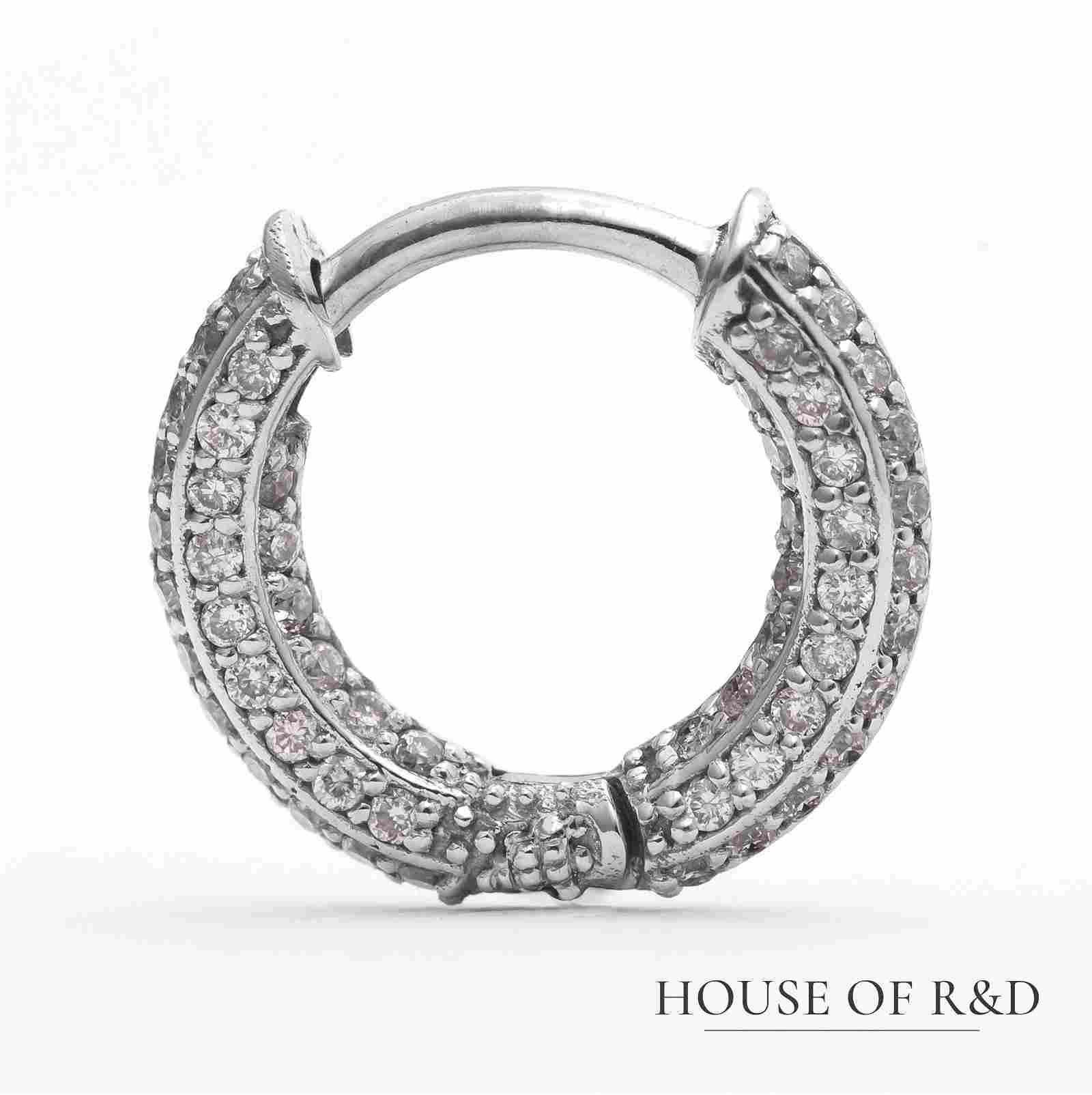 14k White Gold - 0.23tcw -  Diamonds Earring
