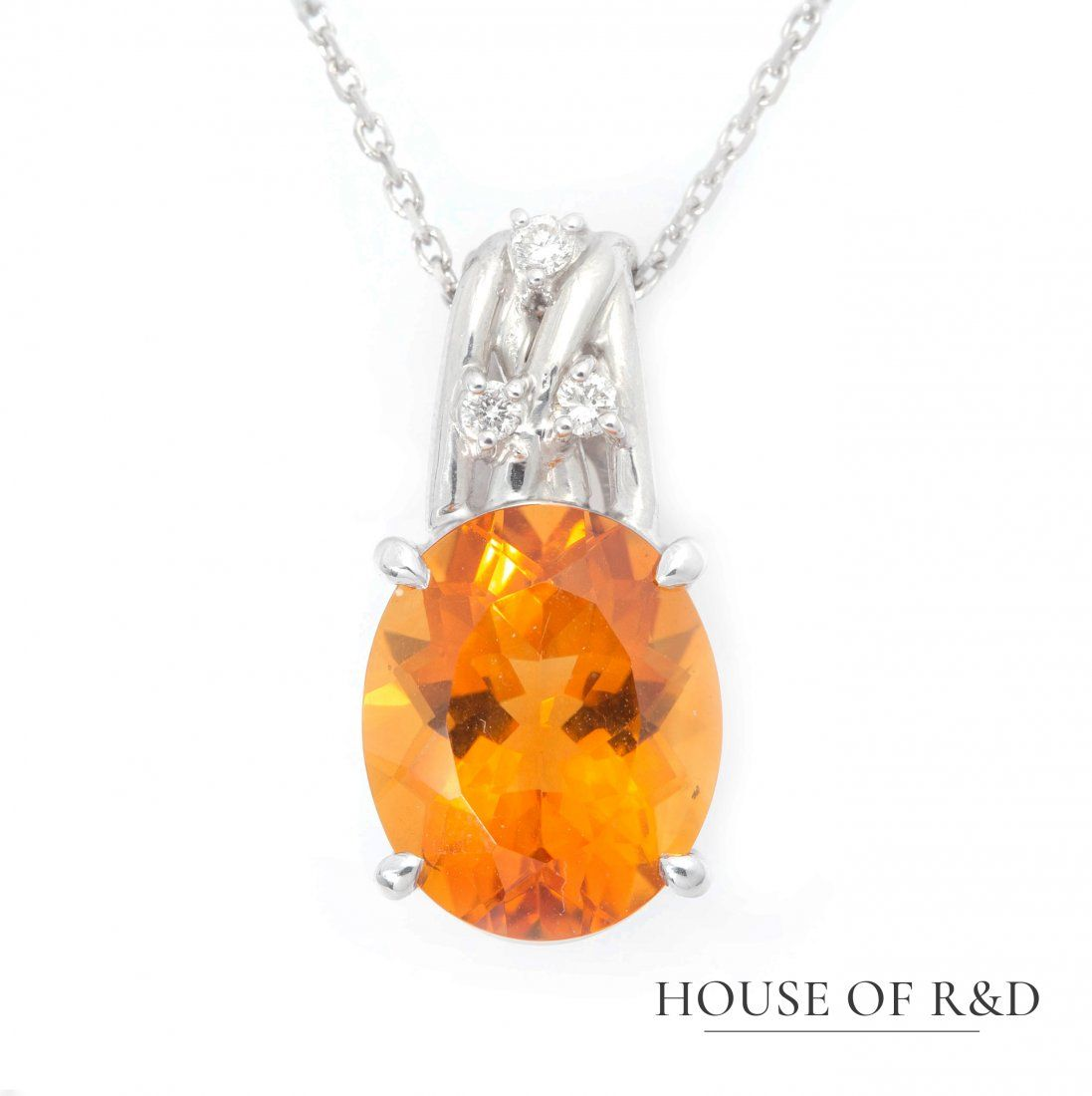 18k+14K White Gold - 4.60tcw - Citrine &  Diamonds