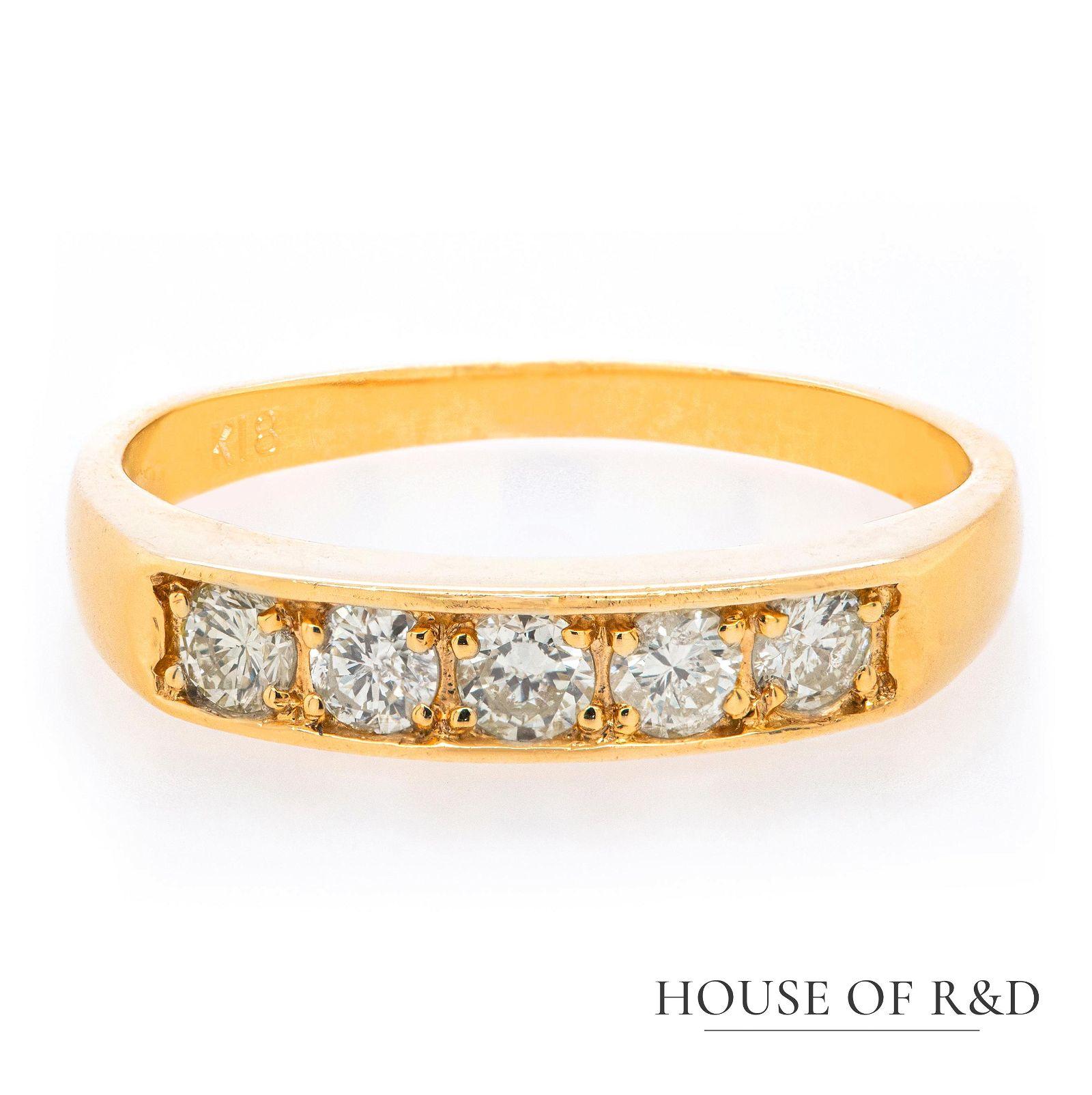 18k Yellow  Gold - 0.30tcw - Diamonds Ring