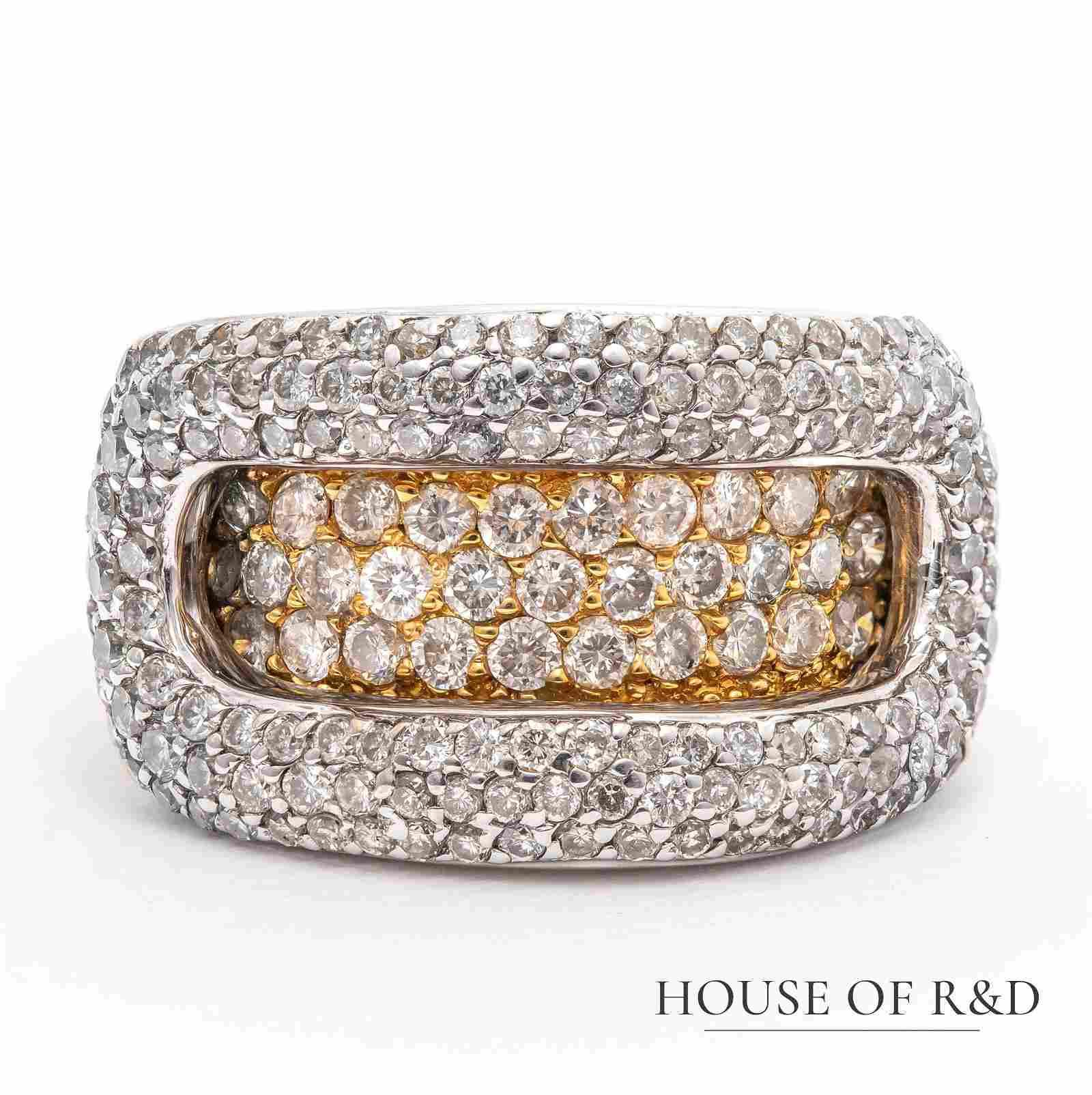 18k Y&W Gold - 1.50tcw -  Diamonds Ring