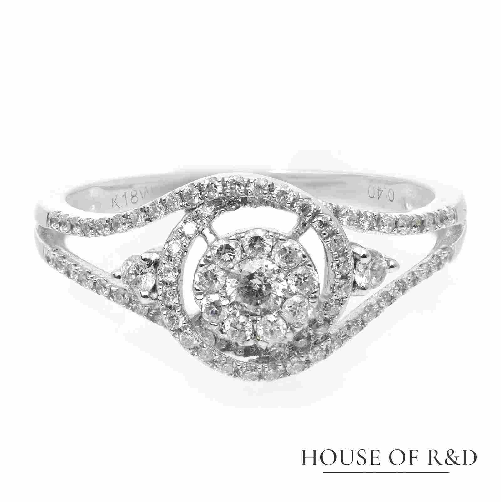 18k White Gold - 0.40tcw - Diamonds Ring