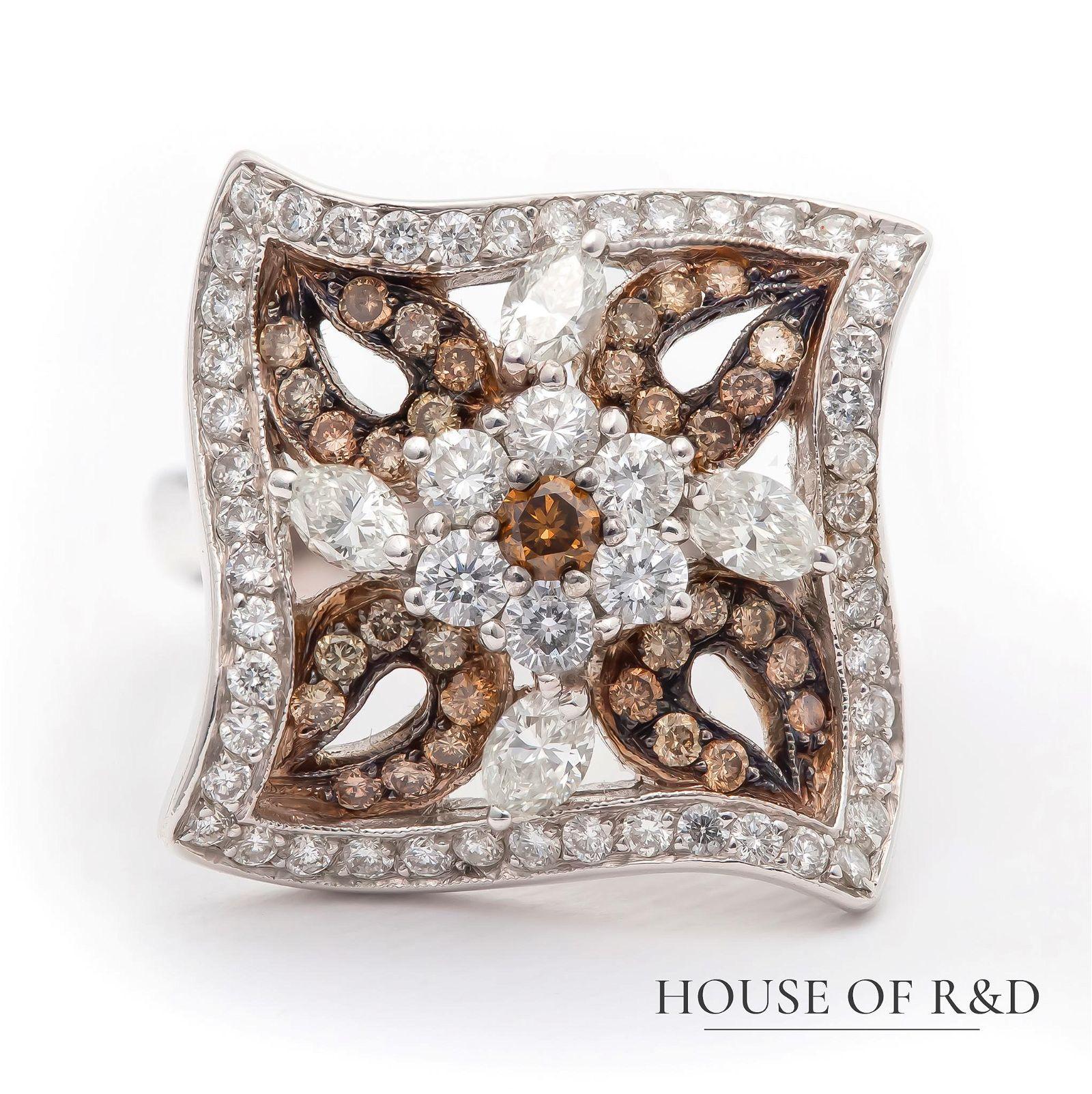 18k White Gold - 1.33tcw -  Diamonds Ring