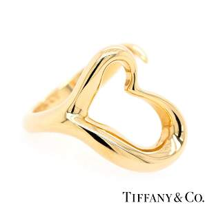 Tiffany & Co - 18k Yellow - Elsa Peretti Open Heart