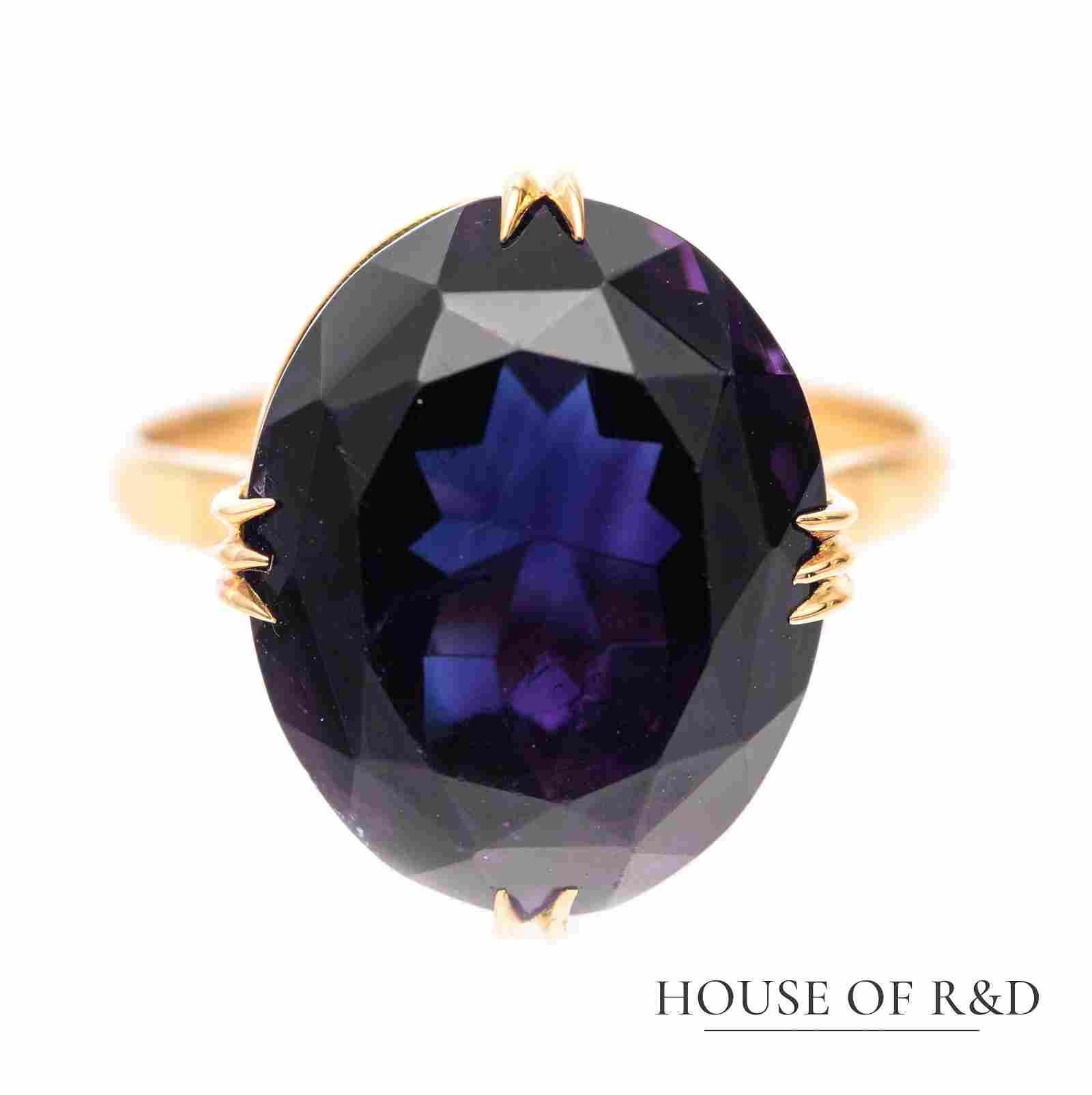 18k Rose Gold - 12.01tcw -  Amethyst  Ring