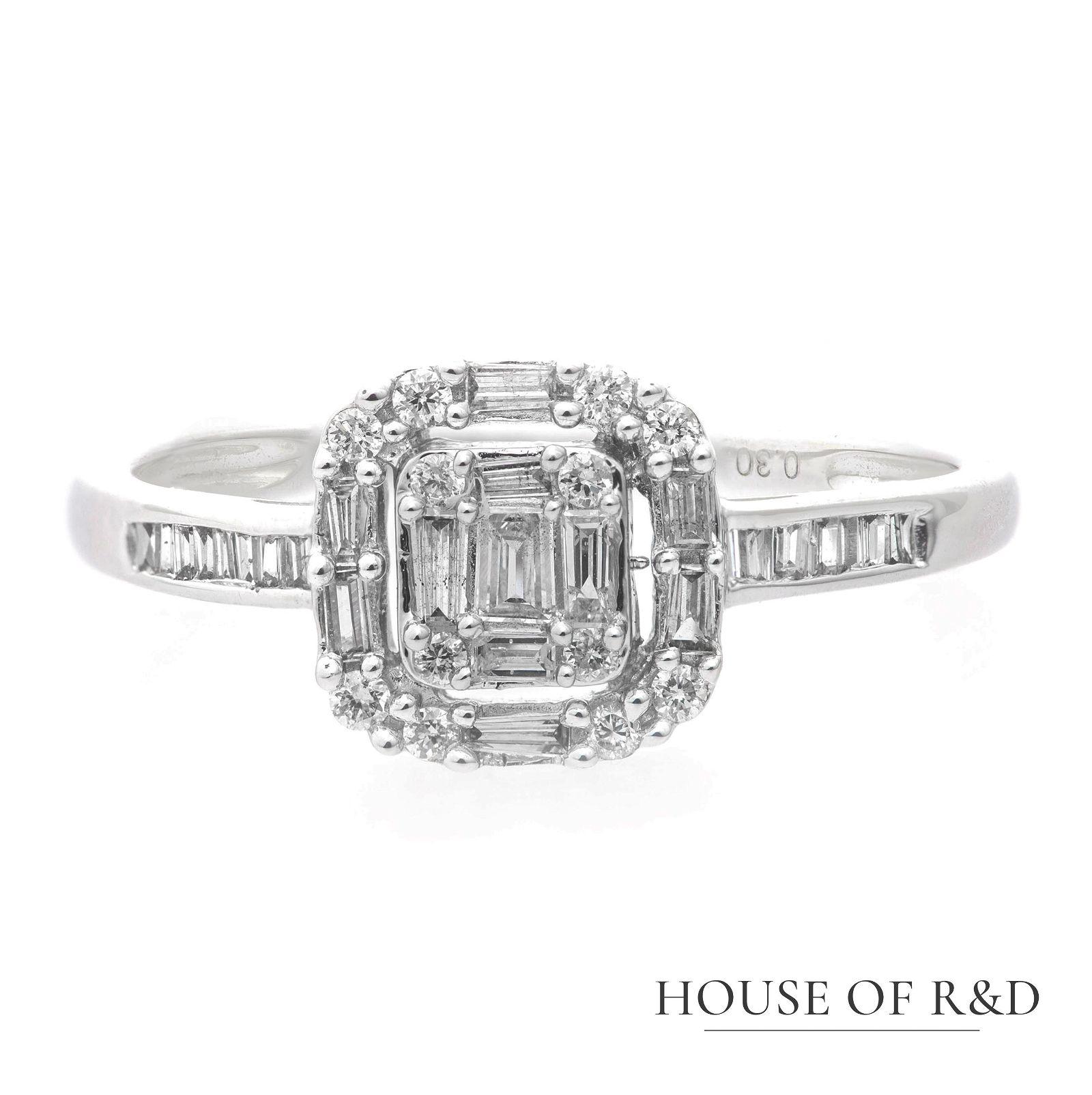 18k White Gold - 0.30tcw -  Diamonds Ring