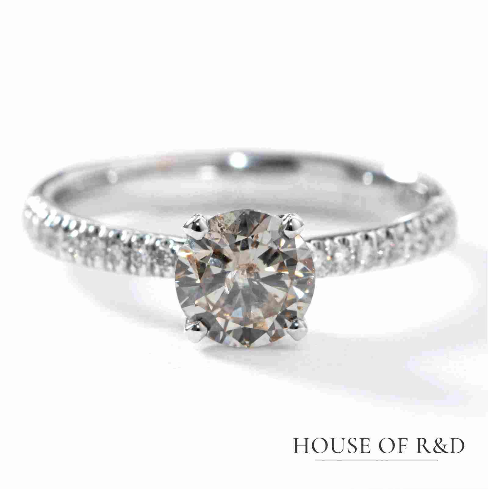 14k White Gold - 1.09tcw -  Diamonds Ring