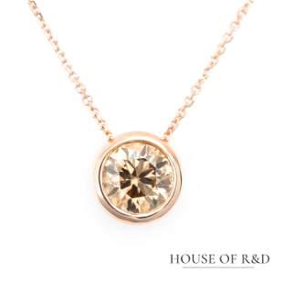 14k Rose Gold - 1.00tcw - Diamonds Pendant