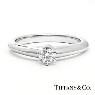 Tiffany & Co - Platinum 950 - 0.16tcw - Diamonds Ring