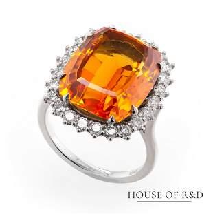 14k White Gold - 1.45tcw - Sapphire & Diamonds Ring