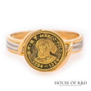 Platinum 900 & 18k Yellow Gold Signature Ring