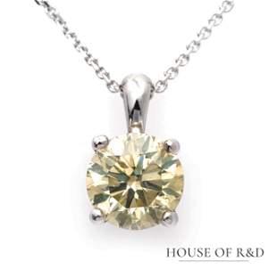 14k White Gold - 1.17tcw -  Diamond Pendant