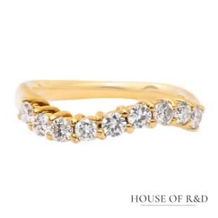 18k Yellow  Gold - 0.50tcw -  Diamonds Ring