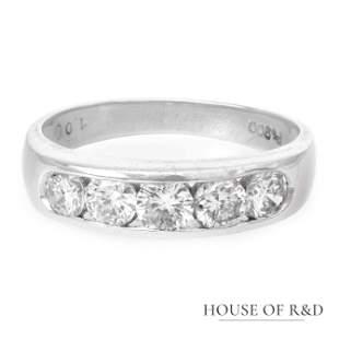 Platinum 900 - 1.00tcw -  Diamonds Ring