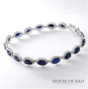 14k White Gold - 19.08tcw -  Sapphire & Diamonds