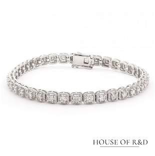 14k White Gold - 2.13tcw -  Diamonds Tennis Bracelet