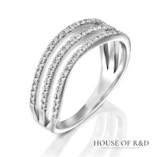 14k White Gold - 0.26tcw -  Diamonds Ring