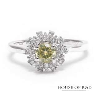 14k White Gold - 0.56tcw -  Diamonds Ring