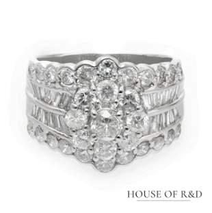 Platinum 900 - 3.00tcw - Diamonds Ring