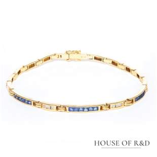 18k Yellow Gold - 1.21tcw -  Sapphire & Diamonds