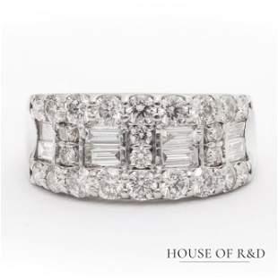 Platinum 900 - 2.20tcw -  Diamonds Ring