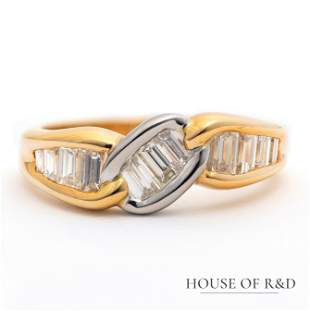 18k Yellow Gold & Platinum - 0.70tcw -  Diamonds Ring