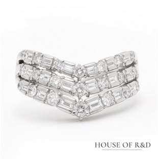 Platinum 900 - 0.65tcw -  Diamonds Ring