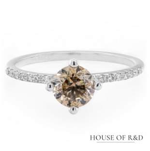 14k White Gold - 1.12tcw -  Diamonds Ring