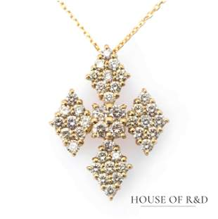 18k Yellow Gold - 1.00tcw -  Diamonds Pendant